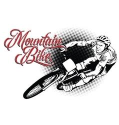 Summer kinds of sports mountain bike vector