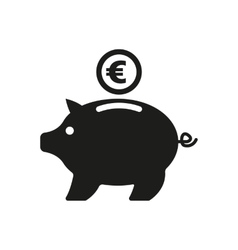The moneybox and euro icon Cash and money wealth vector image vector image