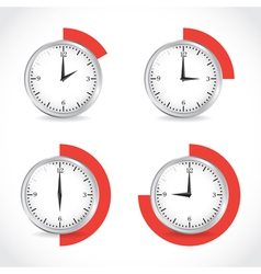 Timer set vector image vector image