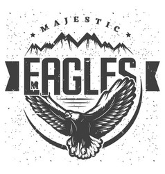 Vintage majestic eagle label template vector