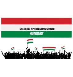 Cheering or protesting crowd hungary vector