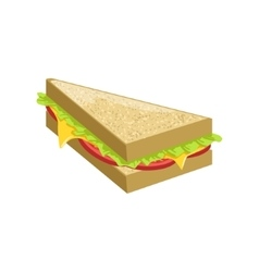 Triangle sandwich street food menu item realistic vector