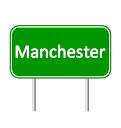 Manchester road sign vector image