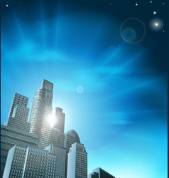 blue corporate cityscape vector image