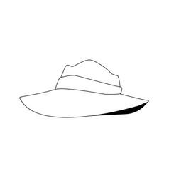 men hat costume cloth ribbon fashion vector image