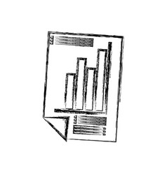 Isolated graphic stats vector