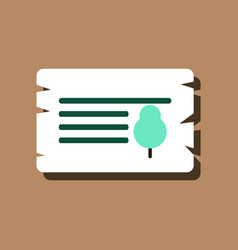 flat icon design collection paper from tree in vector image