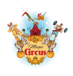 Circus colored background vector