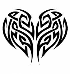 tribal tattoo heart vector image