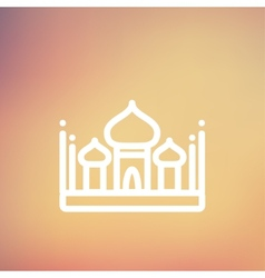 Saint basil cathedral thin line icon vector