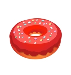Glazed ring donut vector