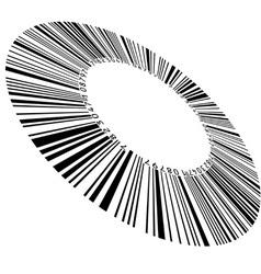Circular bar code vector