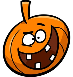 Halloween pumpkin cartoon vector