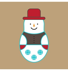 Snowman ornament vector