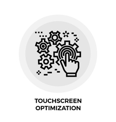 Touchscreen optimization line icon vector
