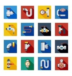 Pipes Shadow Icons Set vector image