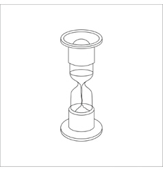 Line hourglass icon vector