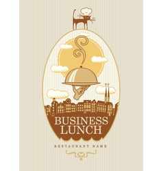 Business lunch vector