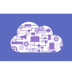 Abstract concept of cloud computing vector