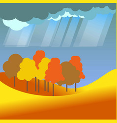 autumn or fall four seasons nature landscape vector image