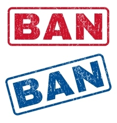 Ban rubber stamps vector