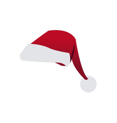 Cartoon red Christmas hat from Santa Claus on a Vector Image
