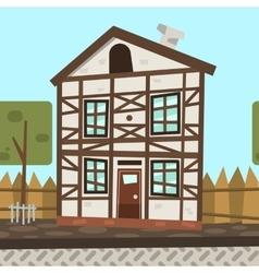 cartoon flat Germany house vector image vector image