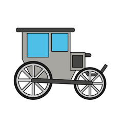 Color image wedding carriage without horses vector