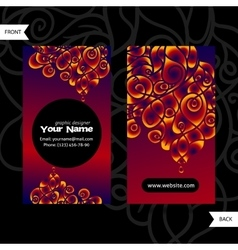 Colorful decorative design of business card with vector