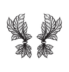 Engraving tattoo blackwork ornament vector