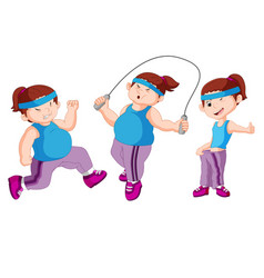 fat woman sport design collection vector image