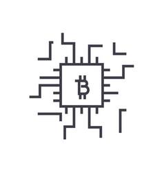 Fintech concept linear icon sign symbol vector