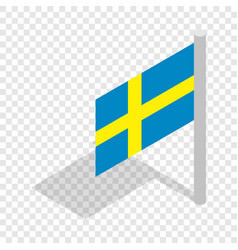 flag of sweden isometric icon vector image