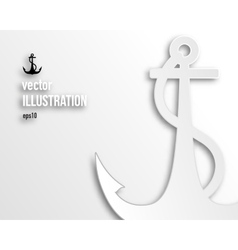 Flat anchor icon vector image
