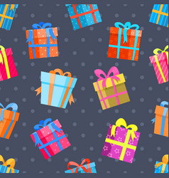 gifts or present boxes seamless pattern vector image vector image