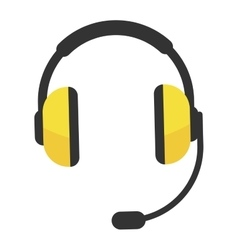 Headphones icon isolated vector image