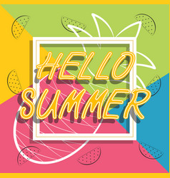 hello summer travel the trend calligraphy vector image