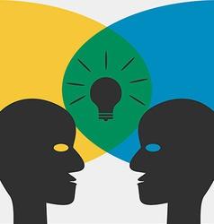 Idea Concept - Chat Dialog Desicion Idea vector image