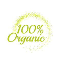 Inscription 100 percentage organic vector