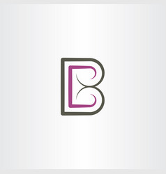 letter b font icon element symbol sign vector image