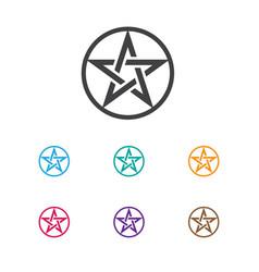 Of religion symbol on baphomet vector