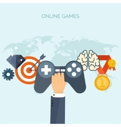 Online games joystick web vector