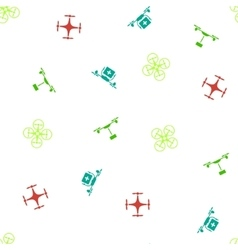 Quadcopter seamless flat pattern vector