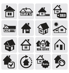 Real estate set vector image