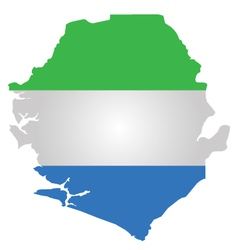 Sierra leone flag vector