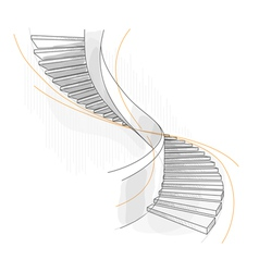 Sketch of a spiral staircase vector