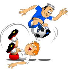soccer acrobat vector image
