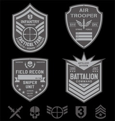 Special forces patch emblem set vector image vector image