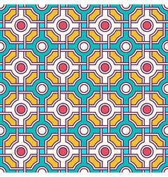 Tangled moorish seamless pattern vector