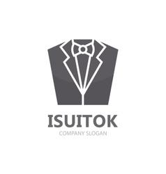 Tuxedo logo design jacket logo suit logo vector